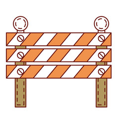 Construction fence signal icon vector