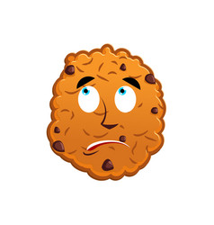 Cookies surprised emoji biscuit emotion vector