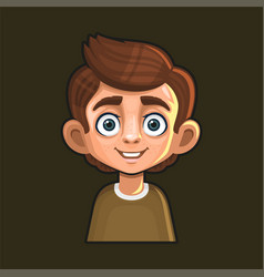 cute young man avatar character cartoon style vector image
