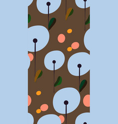 dandelion stylized modern seamless floral pattern vector image