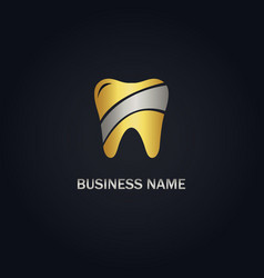 dental gold logo vector image
