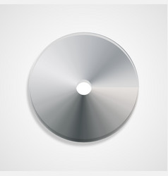 disc gray in color with shadow volumetric vector image