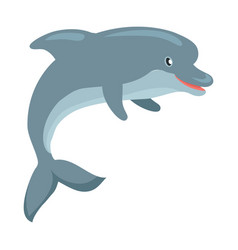dolphin cartoon flat vector image