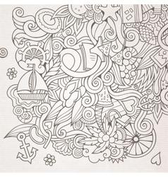 Doodles abstract decorative summer sketch vector