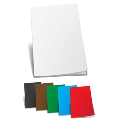 Empty color brochure vector