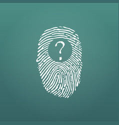 fingerprint and question mark identification vector image