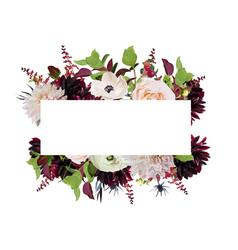 Floral design card design pink rose burgundy vector