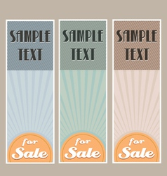 for sale retro banner set vector image