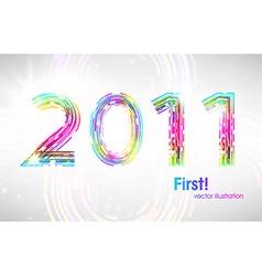 Futuristic 2011 Background vector image