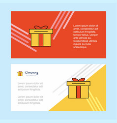 giftbox abstract corporate business banner vector image