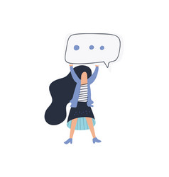 girl speech bubble vector image