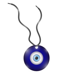 Glass evil eye symbol turkish traditional amulet vector