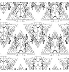 Graphic demon fox mask vector
