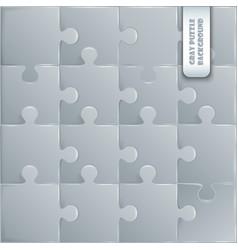 Gray plastic pieces puzzle game vector