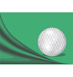 green background with a golf ball vector image