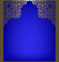 Greeting card with golden frame vector