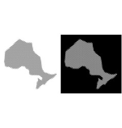 Halftone ontario province map vector