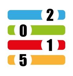 Happy new year color symbol vector
