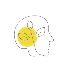 Human head pollution icon vector