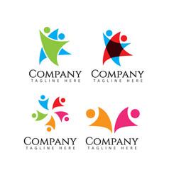 Human logo company template design vector