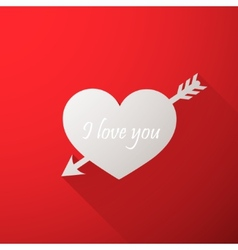 I love you Abstract holiday background with a vector image