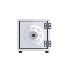 Isolated safe flat icon security element vector