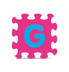 letter G written with alphabet puzzle vector image