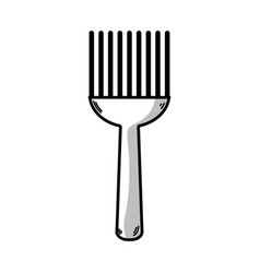 line fork kitchen utensil that used to cook vector image