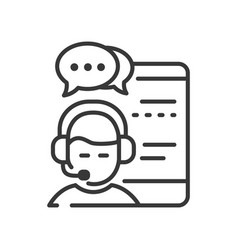 live chat - line design single isolated vector image