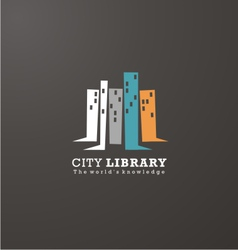 Logo design idea for library or book store vector