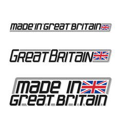 Made in great britain vector