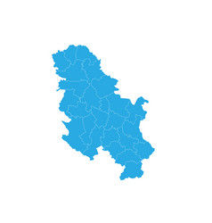 map of serbia nokosovo high detailed map - serbia vector image