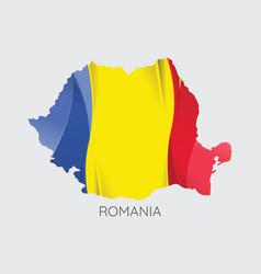 Map romania vector
