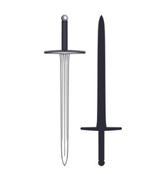 medieval sword isolated on white vector image