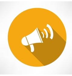 Megaphone - loudspeaker icon vector