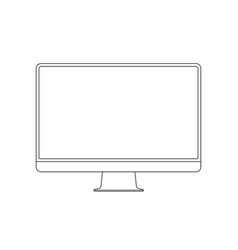 monitor line icon display outline stroke vector image