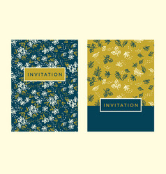 Naive simple floral pattern for invitation vector