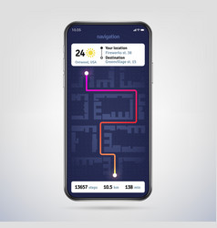 navigate on city map online navigator app gps vector image
