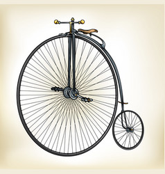 Old time bike vector