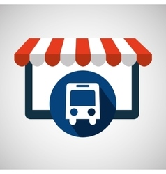 online shop transport bus design icon vector image