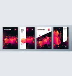 Organic brochure layout design bright fluid color vector