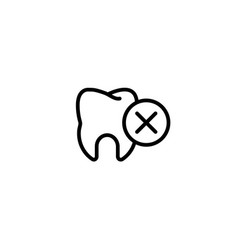pain unhappy remove bad toothache icon in black vector image