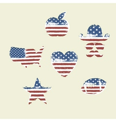 patriotic symbols composed flag part1 vector image