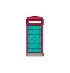 phone booth flat icon vector image