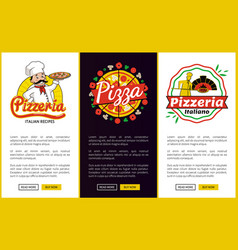 Pizzeria collection of web vector