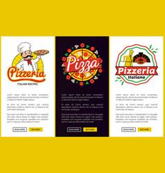 Pizzeria collection web vector