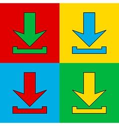 Pop art arrow vector