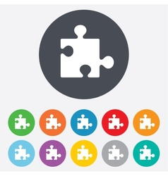 Puzzle piece sign icon strategy symbol vector