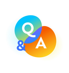 Q and a gradient bubbles question and answer web vector