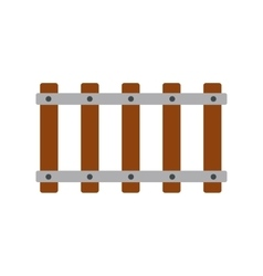 Railroad icon flat vector